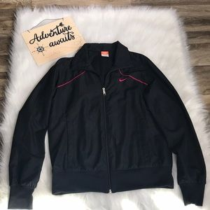 90's style Nike Athletic Dept  Black Zip Up Jacket